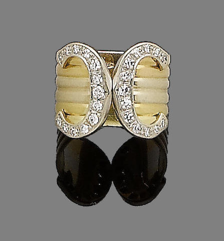 A diamond-set 'Double C Decor' ring, by Cartier