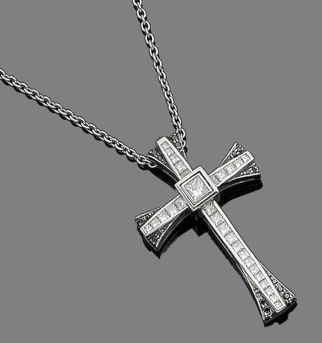 A diamond pendant necklace, by Boodles