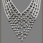 A diamond swag necklace