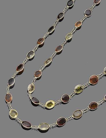 Three gem-set necklaces (3)