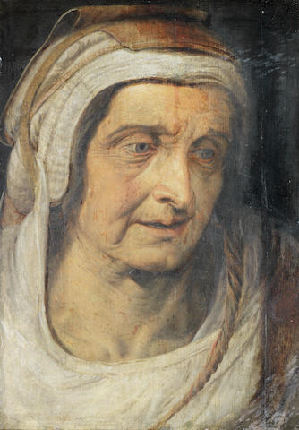 Studio of Frans Floris the Elder (Antwerp circa 1519-1570) Portrait of an elderly lady