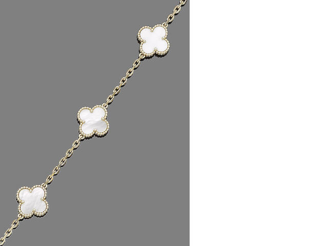 A mother-of-pearl 'Alhambra' necklace, by Van Cleef & Arpels