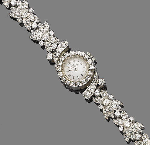A diamond-set cocktail watch, by Girard Perregaux