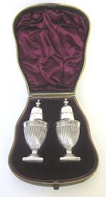 A cased silver twelve piece condiment set, with spoons by E S Barnsley & Co, Birmingham 1938 and other silver items (Qty)