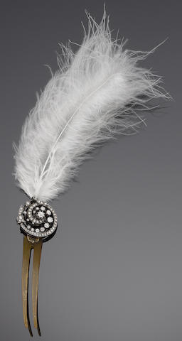 A diamond aigrette, circa 1890 (illustrated to the left)