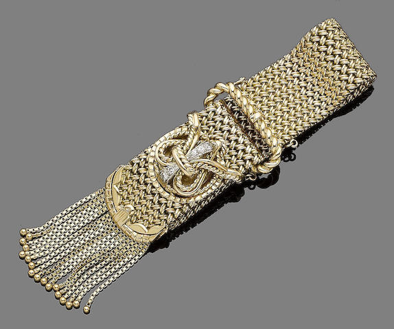 A jarretière bracelet watch,