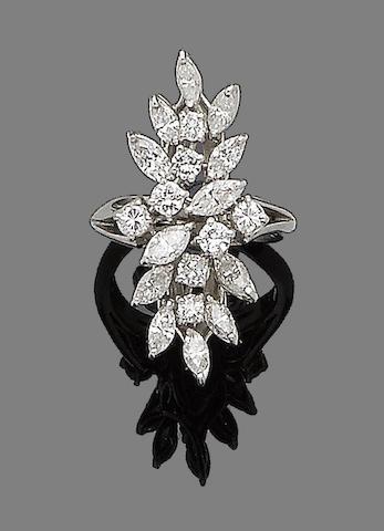 A diamond spray ring
