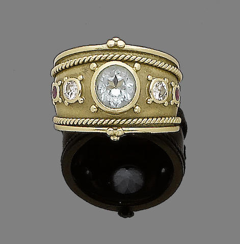 A gem-set ring, by Theo Fennell,