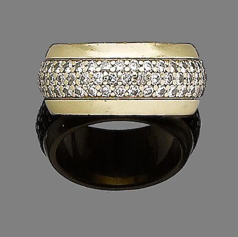 A diamond-set swivel eternity ring