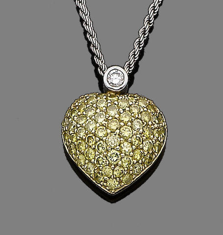 A diamond-set pendant necklace, by Graff