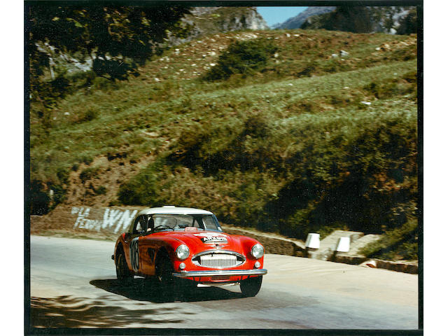 In present ownership since 1969, ARX 91B - The ex-Works, 1964 Austrian Alpine winning, 1965 Targa Florio,1964 Austin-Healey 3000 MKIII Works Rally/Race Car