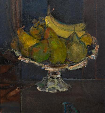 Sir Robin Philipson, RA PRSA FRSA RSW RGI DLitt LLD (British, 1916-1992) Compotier de Fruit 71 x 66 cm. (28 x 26 in.)