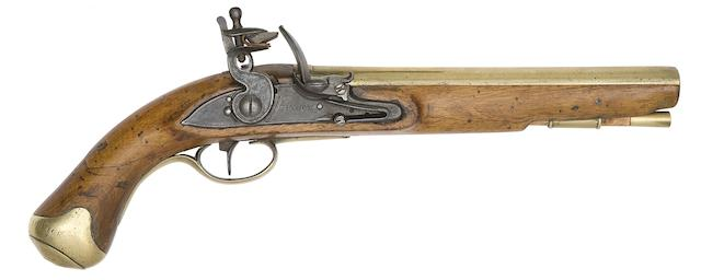 A Rare 16-Bore Flintlock Pistol For General Post Office