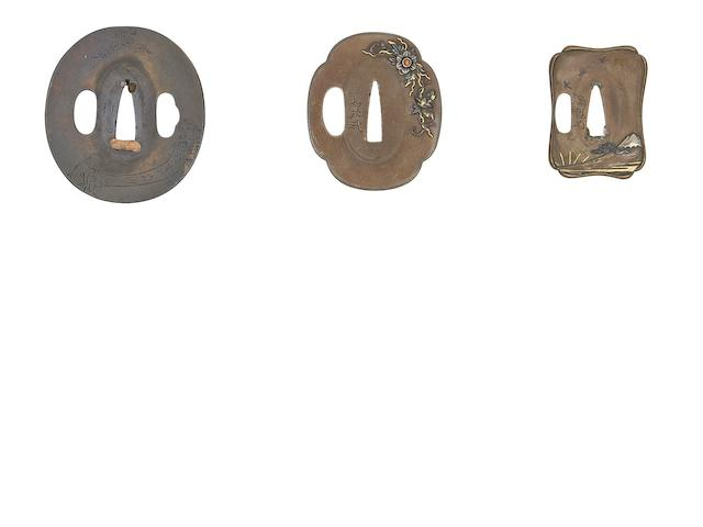 Three Soft-Metal Tsuba