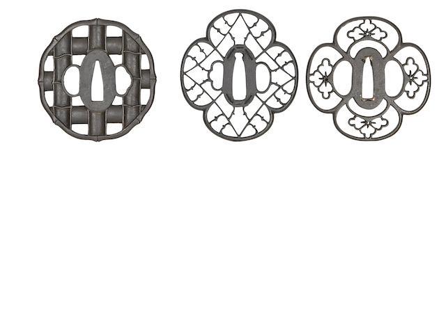 Three Iron Sukashi Tsuba