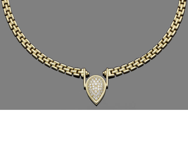A diamond-set fancy-link necklace