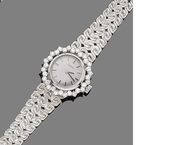 A diamond-set watch, by Zodiac