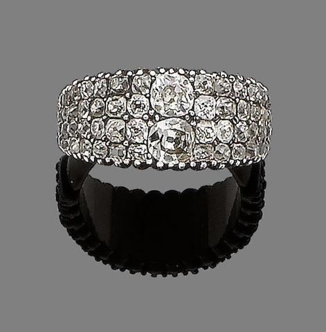 A diamond band ring,