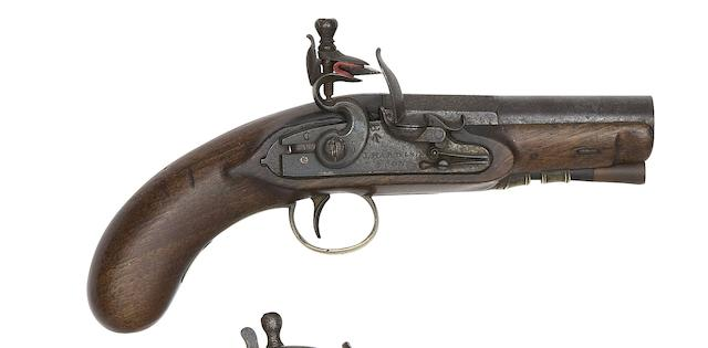 A Rare 40-Bore Flintlock Overcoat Pistol For An Inspector Of Mail Coaches