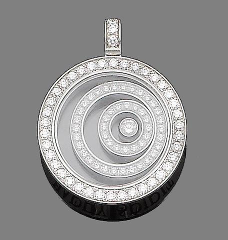 A 'Happy Spirit' diamond pendant, by Chopard