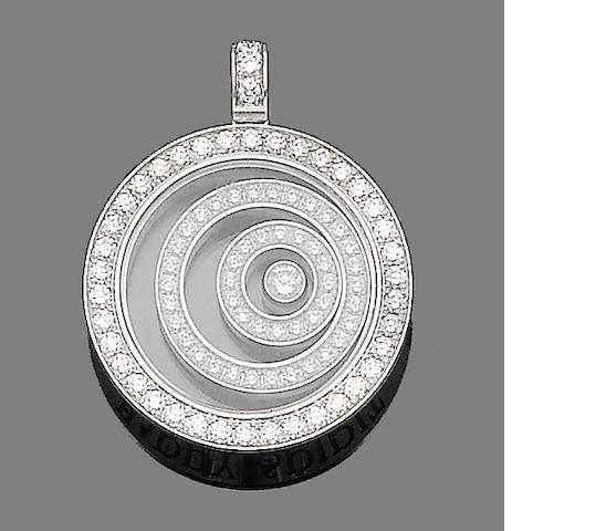 A 'Happy Spirit' diamond pendant, by Chopard