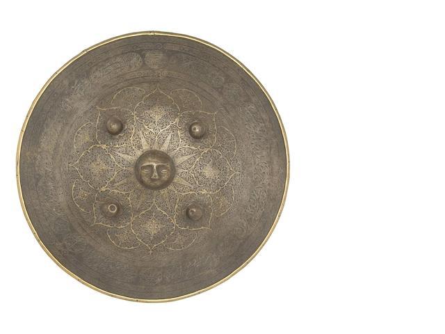 A Persian Circular Steel Dhal