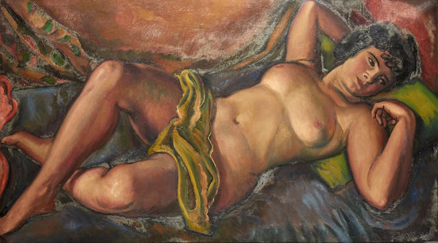 Bernard Meninsky (British, 1891-1950) Reclining female nude