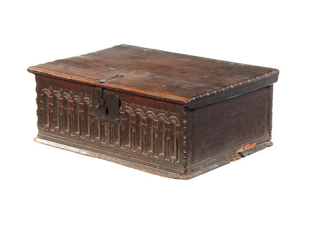 A good Elizabeth I boarded oak desk box