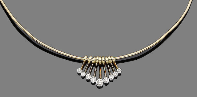 A diamond fringe necklace  (10)