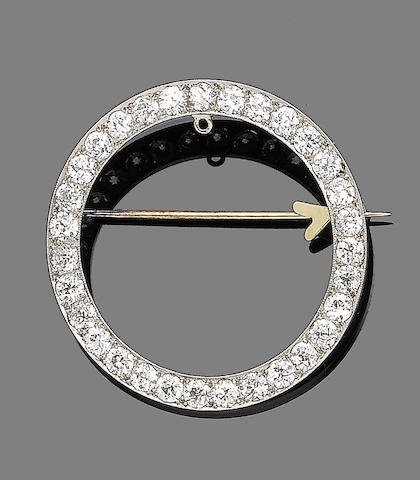A diamond circlet brooch,