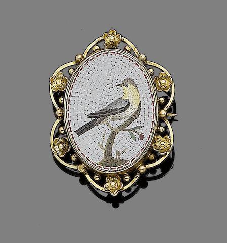 A micromosaic brooch