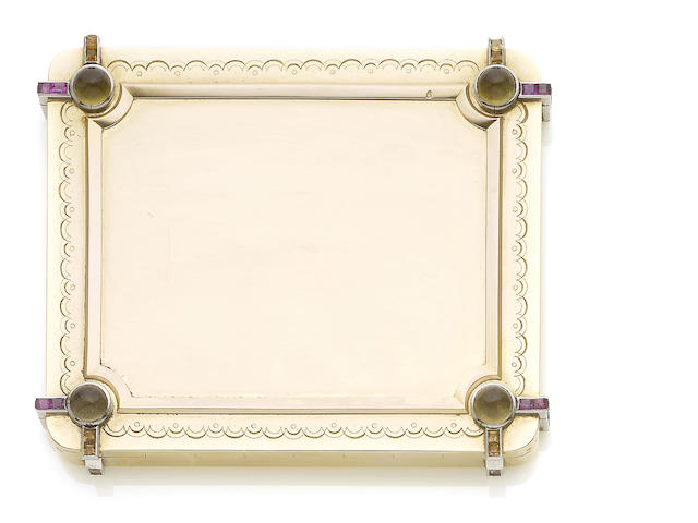 A gem-set compact (illustrated above)