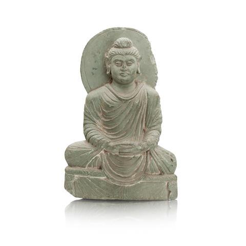 A Gandharan style green schist Buddha