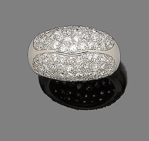 A diamond dress ring, by Trabert & Hoffer