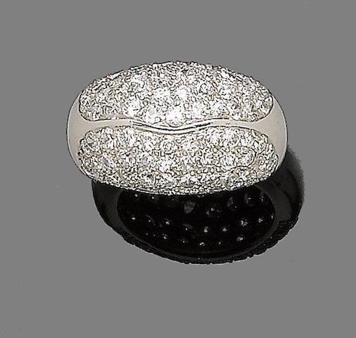 A diamond dress ring, by Trabert & Hoffer