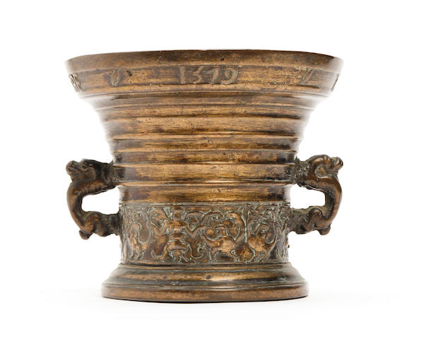 A Dutch bronze mortar, dated 1579 Probably Deventer