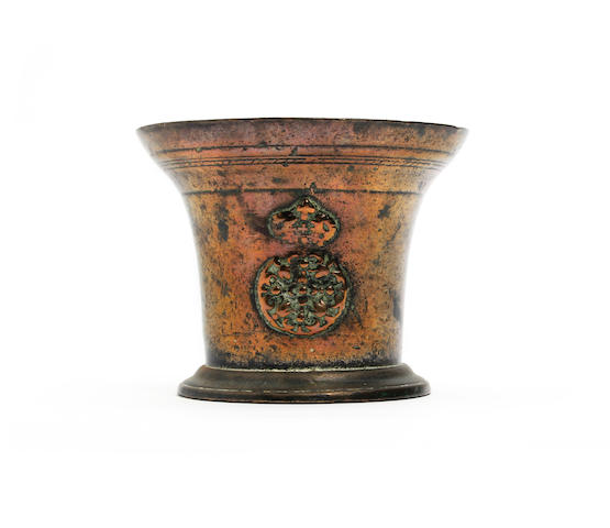 A late 17th century bronze mortar, attributed to Abraham Rudhall I, Gloucestershire