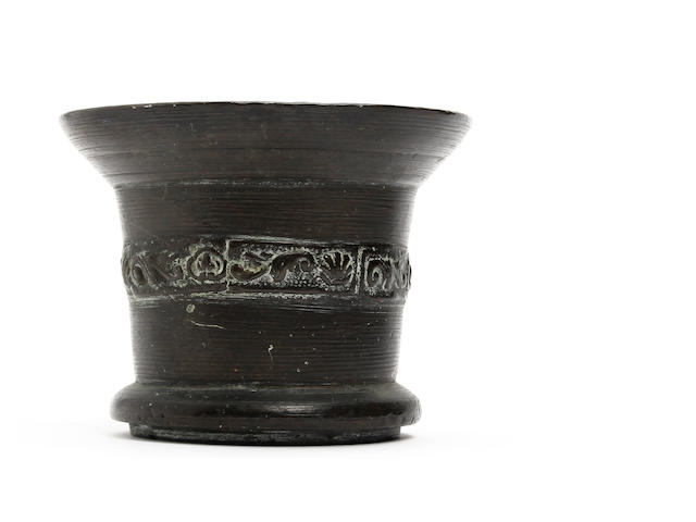 A 17th century bronze mortarProbably circa 1630, and possibly by John Clifton of the Whitechapel Foundry, London