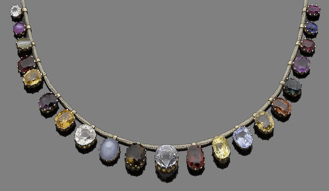 A 'regard' gem-set necklace,