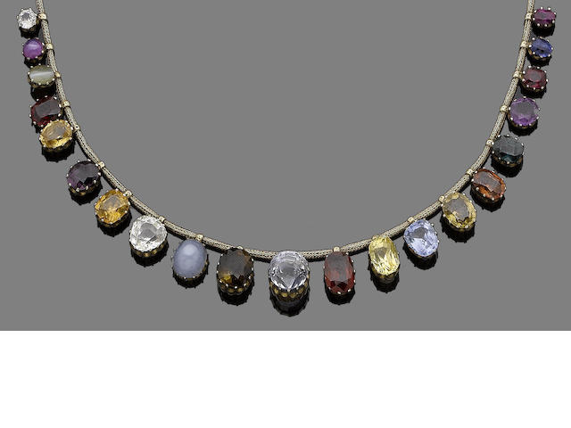 A 'regard' gem-set necklace,