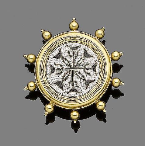A micromosaic brooch,