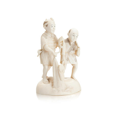 Two ivory carvings 19th century