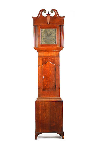 A George III oak-cased brass dial eight-day longcase clock Thomas Burton, Hawkshead.