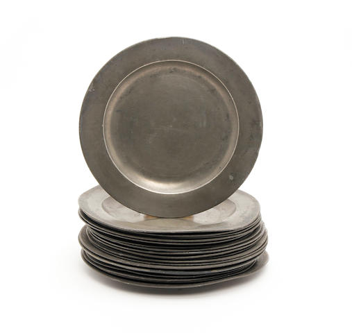 A group of plain rim plates18th century and later