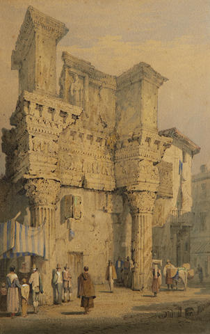 Samuel Prout, FSA, OWS (British, 1783-1852) Forum of Nerva, Rome