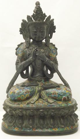 A bronze seated Buddha Probably early 20th century