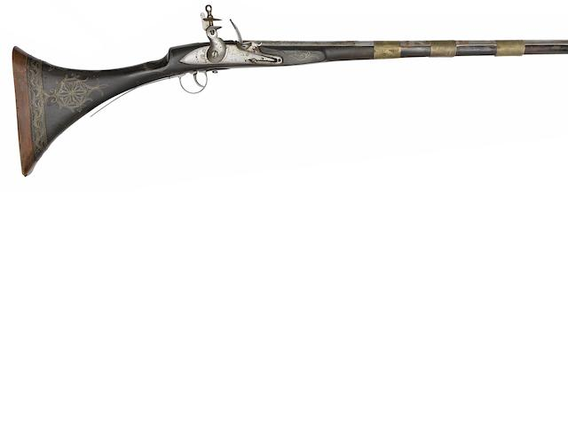 A North African (Moroccan) 22-Bore Flintlock Gun, And An Indian 25-Bore Flintlock Jezail