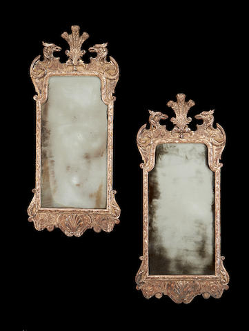 A pair of early 20th century silvered mirrorsin the George II style