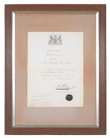 A Royal Warrant to Charles Lancaster, Gunmaker to King Edward VII