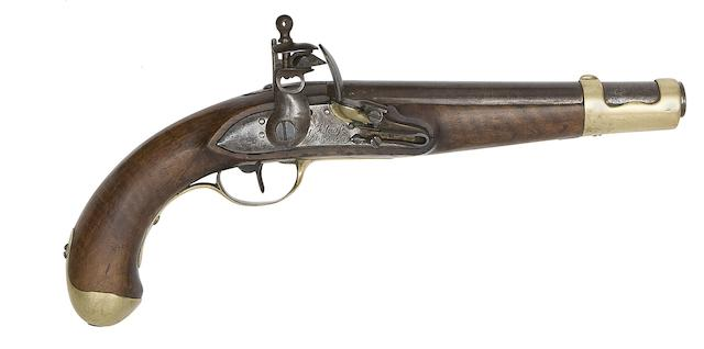 A Liège 12-Bore Flintlock Military Pistol